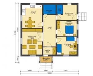 План первого этажа Анапа