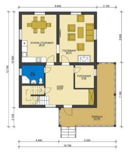 План первого этажа Апрелевка