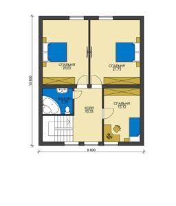 План второго этажа Апрелевка