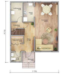План первого этажа Армавир