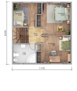 План второго этажа Армавир