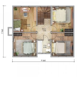 План второго этажа Белогорск
