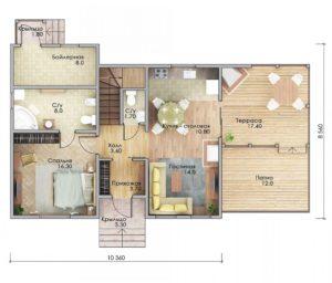 План первого этажа Ейск