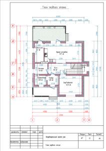 План первого этажа Комфортный