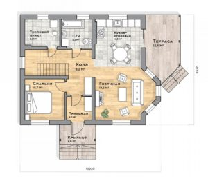 План первого этажа Краснодар