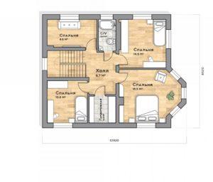 План второго этажа Краснодар