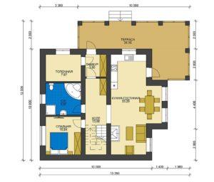 План первого этажа Кубинка