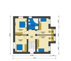 План второго этажа Кубинка