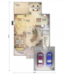 План первого этажа Майкоп