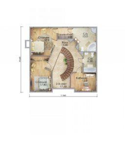 План второго этажа Майкоп