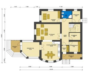 План первого этажа Омск