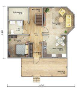 План первого этажа Пятигорск