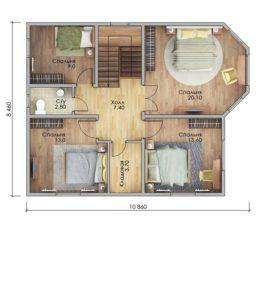 План второго этажа Пятигорск
