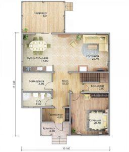 План первого этажа Руза