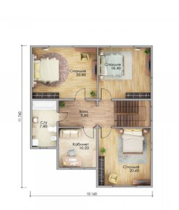 План второго этажа Руза