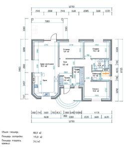План первого этажа Семейный