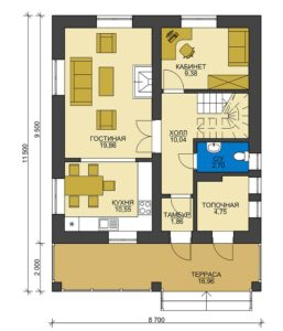 План первого этажа Туапсе