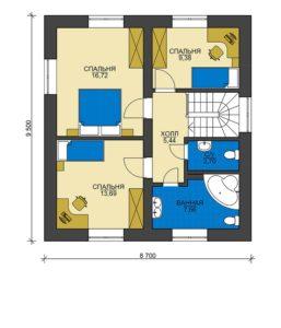 План второго этажа Туапсе