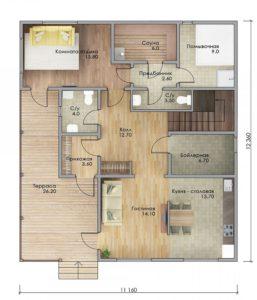 План первого этажа Звенигород