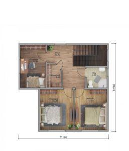 План второго этажа Звенигород